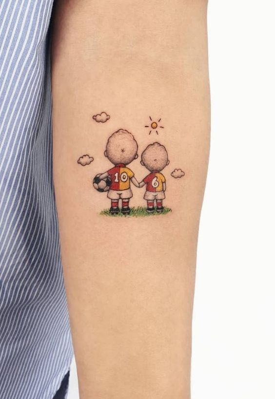 character tattoo on arm for girl