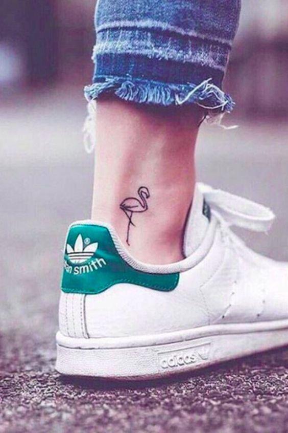 Flamingo Tattoo on foot