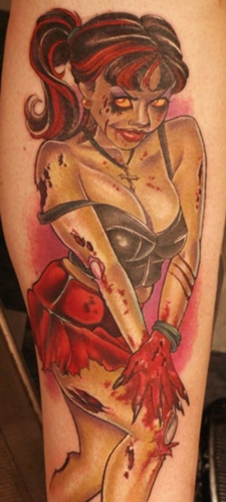 Pin Up Zombie Girl