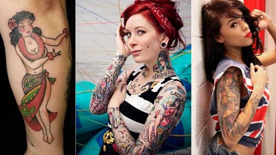 Pin Up girls tattoos thumbnail