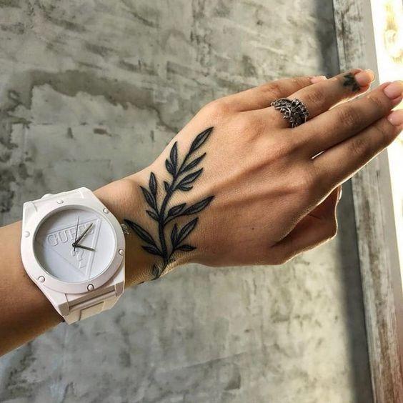 pretty hand tattoos for girls