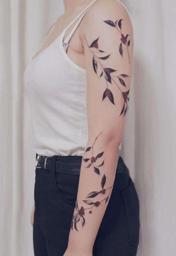female arm tattoos followers black