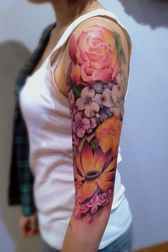 cute tattoo on arm for female