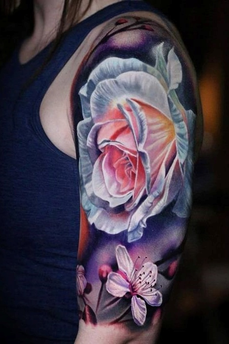 beautiful follower tattoo on arm