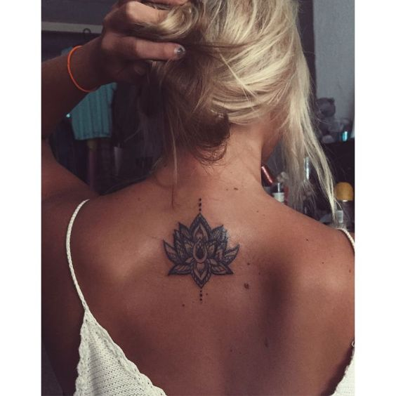 cute back tattoos for females