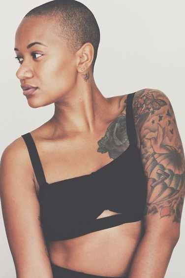 cute shoulder tattoos for black females