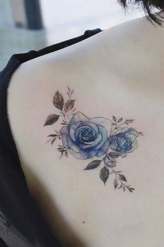 pretty colorful shoulder tattoo