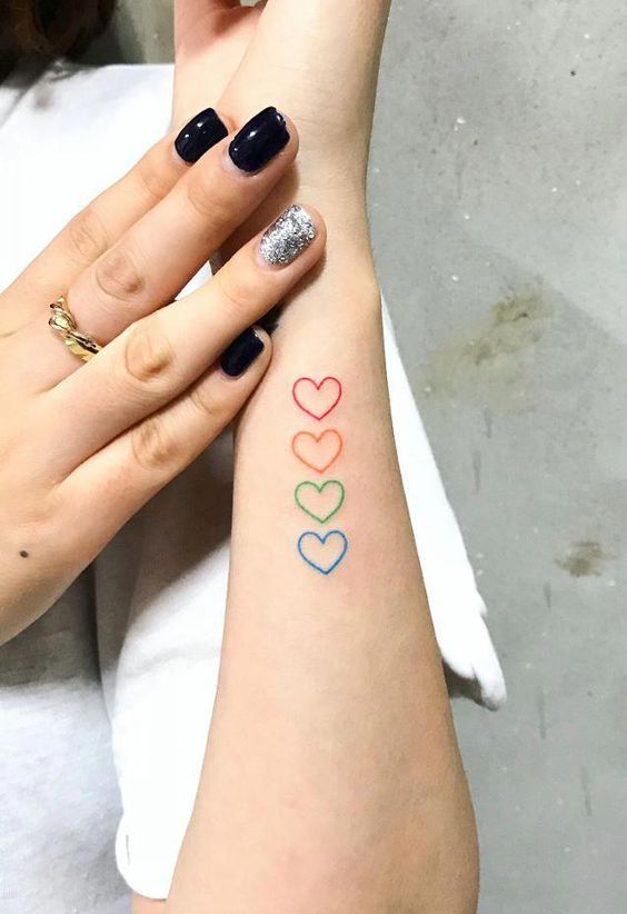 heart tattoo on wrist for girls