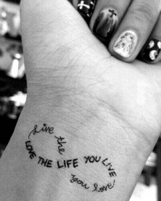 infinity tattoos on wrist for girls