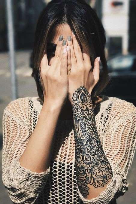 mandala wrist tattoo for girls
