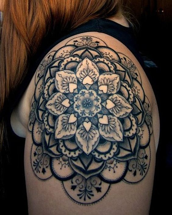 cute shoulder tattoos for girls