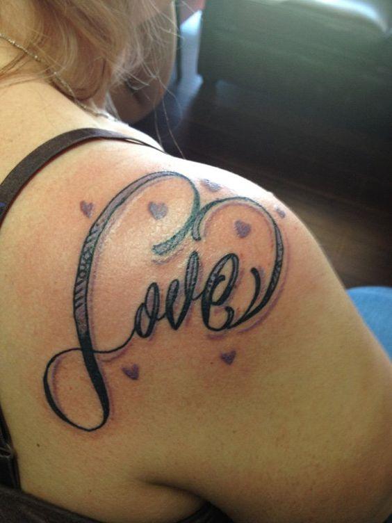 love back shoulder tattoos for females