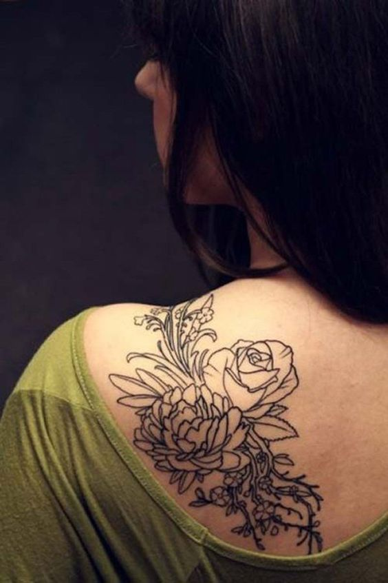 shoulder tattoos flowers