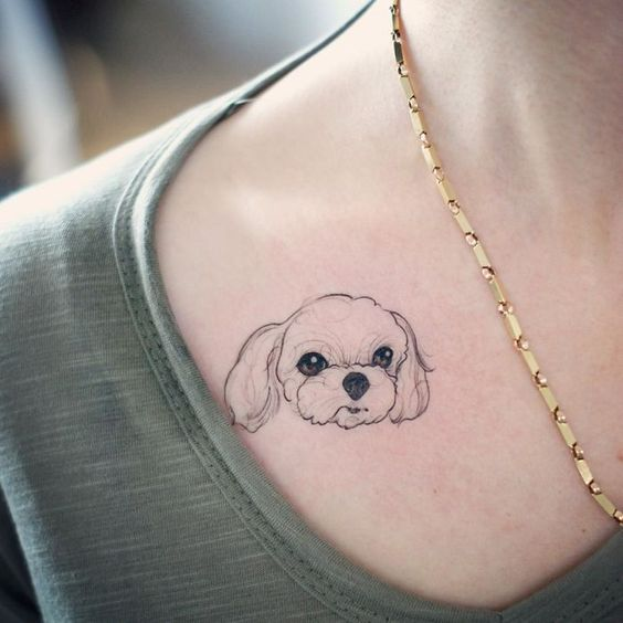 dog small tattoo for girl