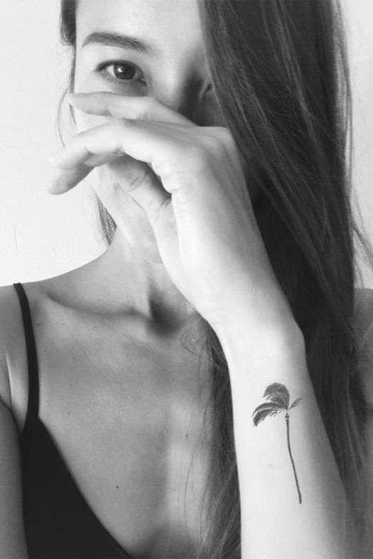 tree wrist tattoo for girls