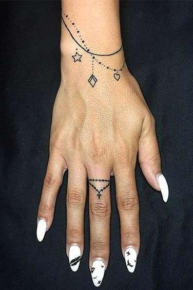 wrist bracelet tattoos for girls