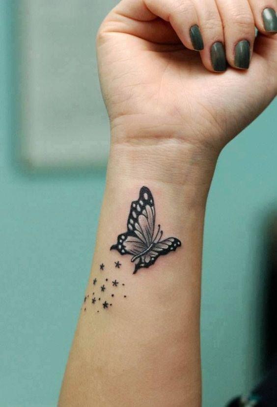 beautiful wrist tattoo for girl