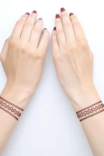 wristband tattoo for girls