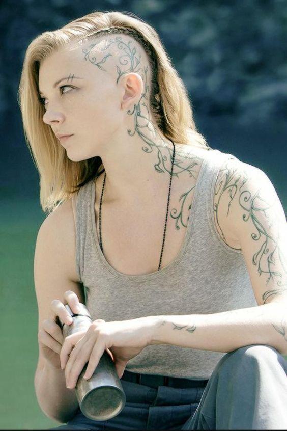 Flower tattoo on head