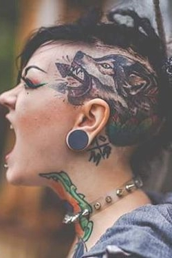 wolf Head tattoos for women