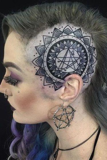 Head tattoo designs for female