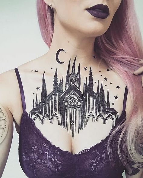 home Chest Tattoos for women