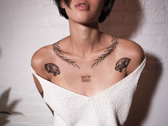 turtle Chest Tattoos for women