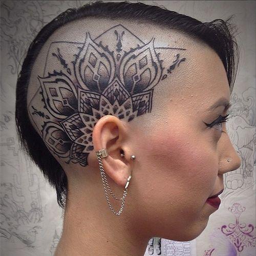 Head tattoos for women