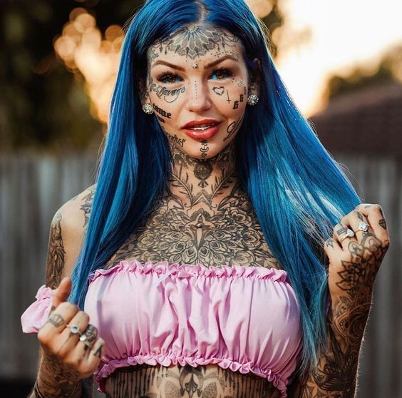 beautiful tattoos on face for girls