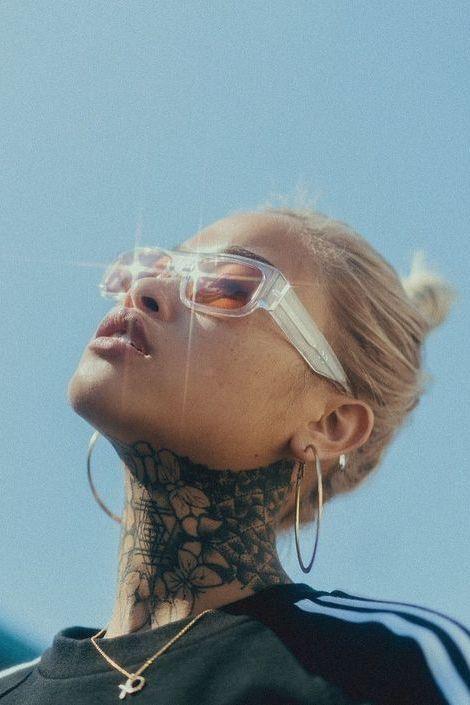 beautiful neck tattoo designs for women