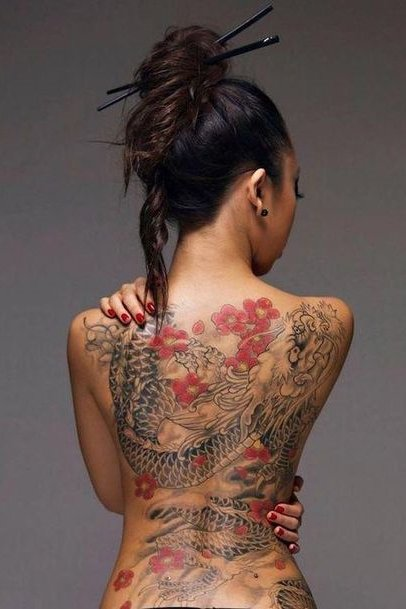 full dragon tattoo back