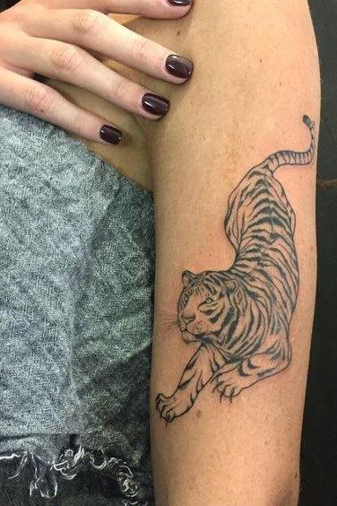 arm tiger tattoo