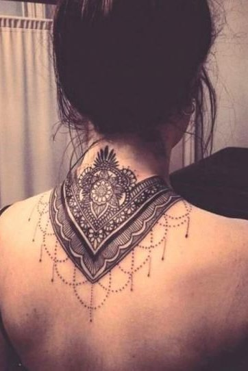Mandala Tattoo back neck