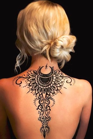 henna tattoo on back