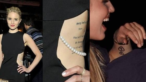 Dianna Agron Tattoo