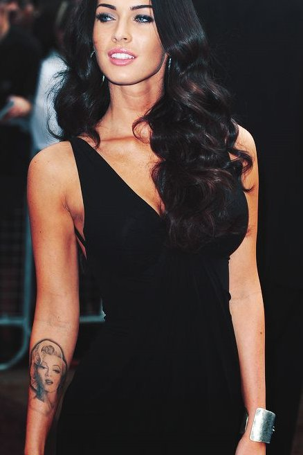 Megan Fox Tattoo on her Arm
