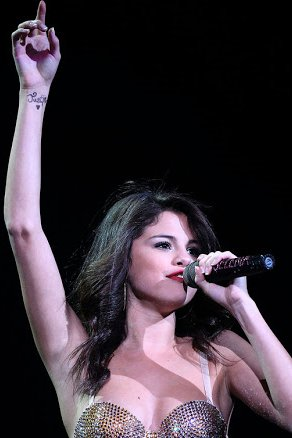 Selena Gomez tattoo on wrist