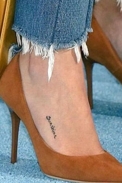 Tattoo on Foot Selena Gomez