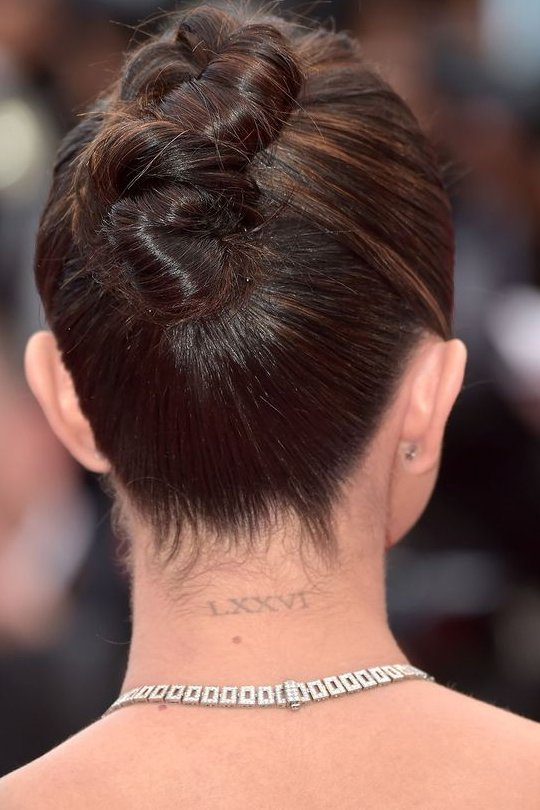 Back Neck Selena Gomez Tattoo