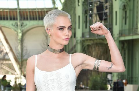 Cara Delevingne tattoo on arm