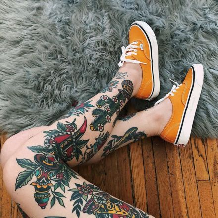 Beautiful leg tattoos