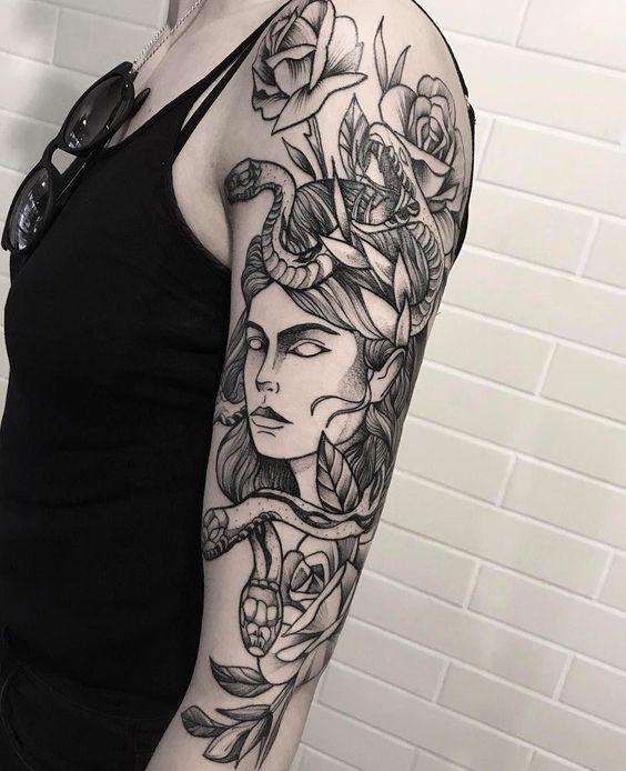 Medusa Tattoos on arm