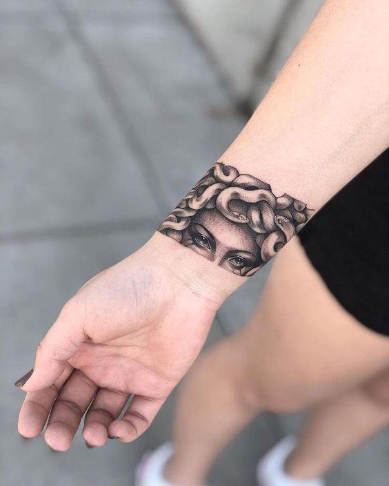 Medusa Tattoos on wrist