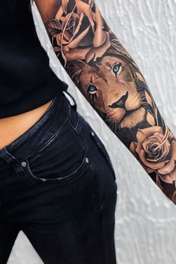 Cover up lion tattoo on hand