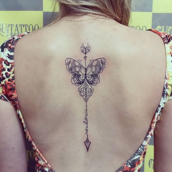 butterfly tattoos for women back