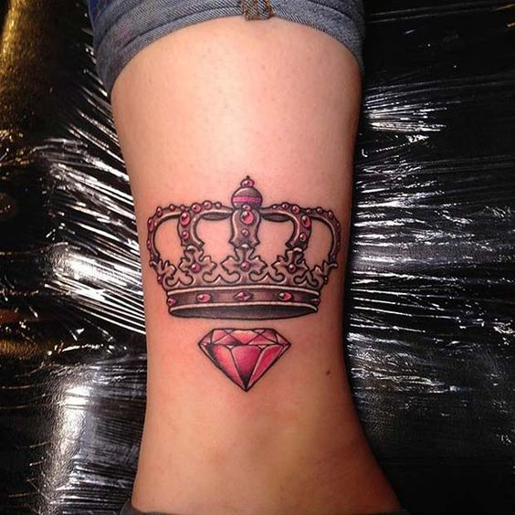 Crown Tattoo on Leg