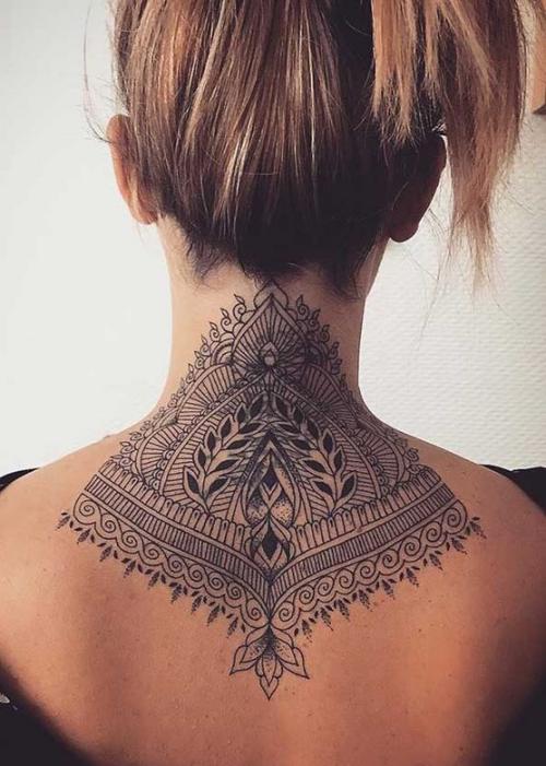 Unique Tattoo designs ideas for back neck