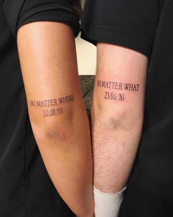 arrow brother sister tattoos