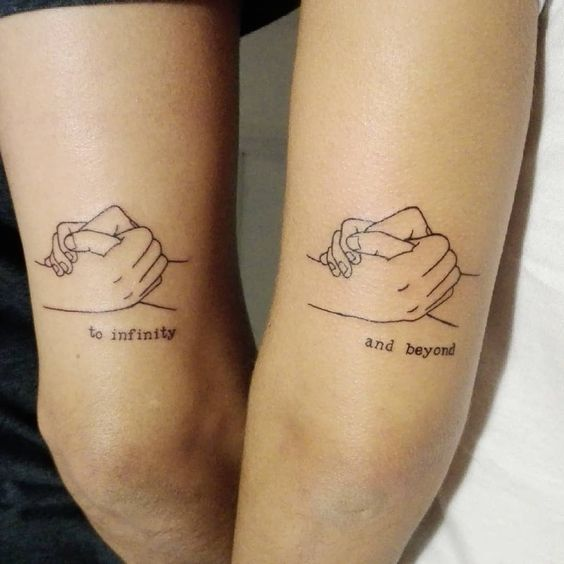 arrow brother sister tattoos hand